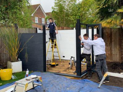 Garden Room In Nottingham, Installation In Progress